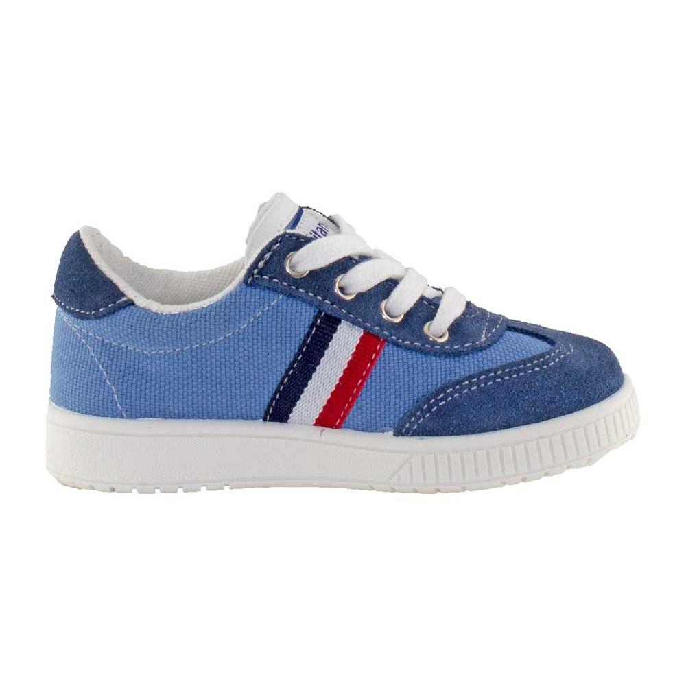 9b785513d Zapatillas lona niño niña Rayas azul