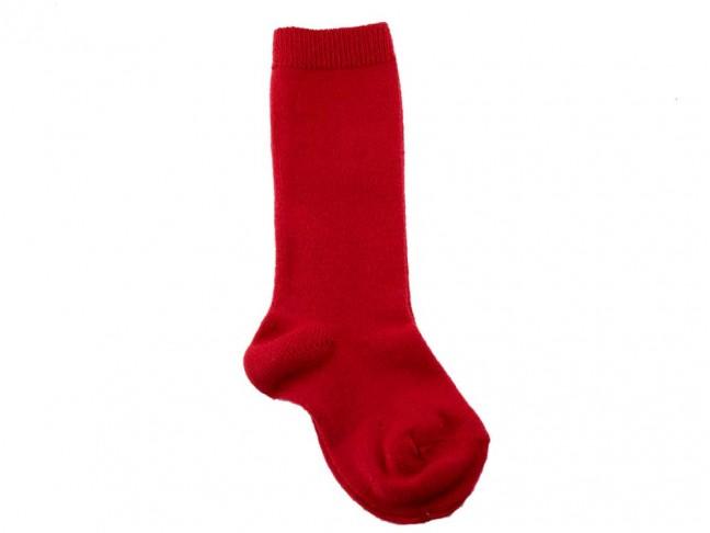 Calcetines niños Condor lisos Altos rojos