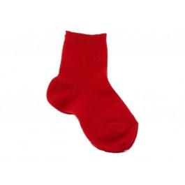 Calcetines niños Condor punto liso rojo