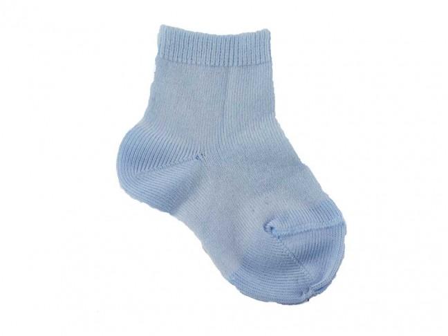 Calcetines niños Condor punto liso azul claro