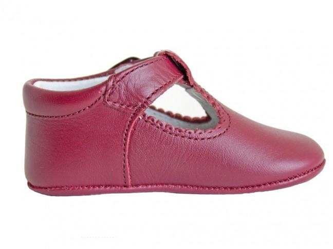 Zapatos Pepitos bebé piel granate