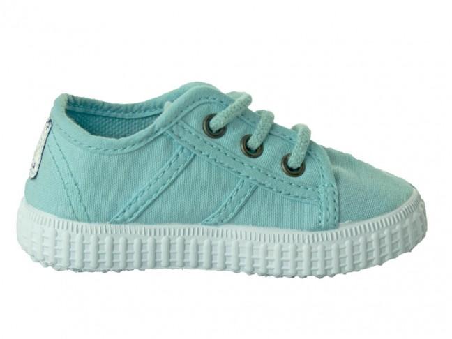 Zapatillas niño niña lona tintada azul bebé