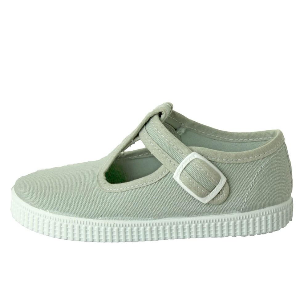 bad390a46 Zapatos Pepitos lona niños Tenis gris claro