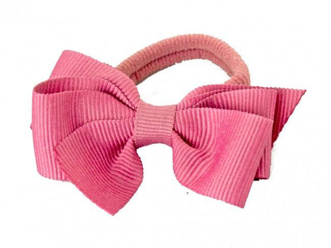 Lazo con goma niña rosa