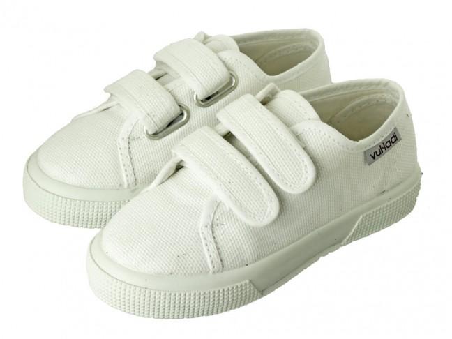 Zapatillas lona niño niña suela ancha