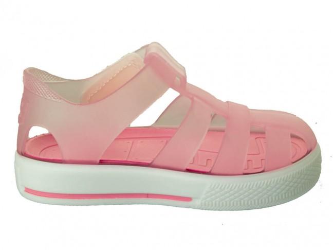 Cangrejeras niño niña Velcro rosa claro