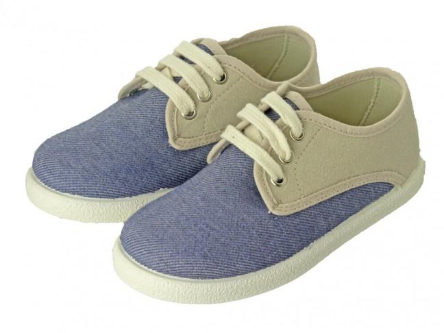 Zapatillas Combinadas niño niña azul viejo