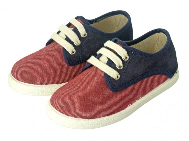 Zapatillas Combinadas niño niña burdeos