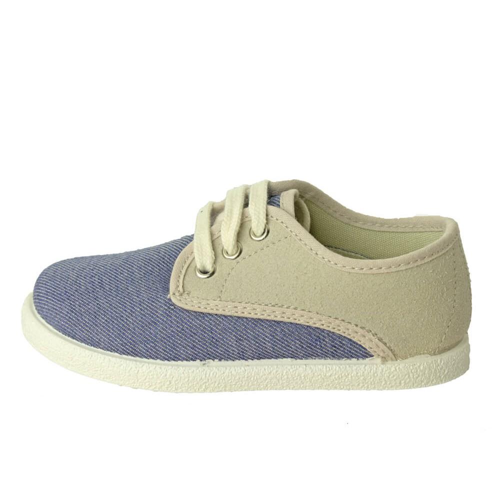 3c14f73237b80 Zapatillas Combinadas niño niña azul viejo
