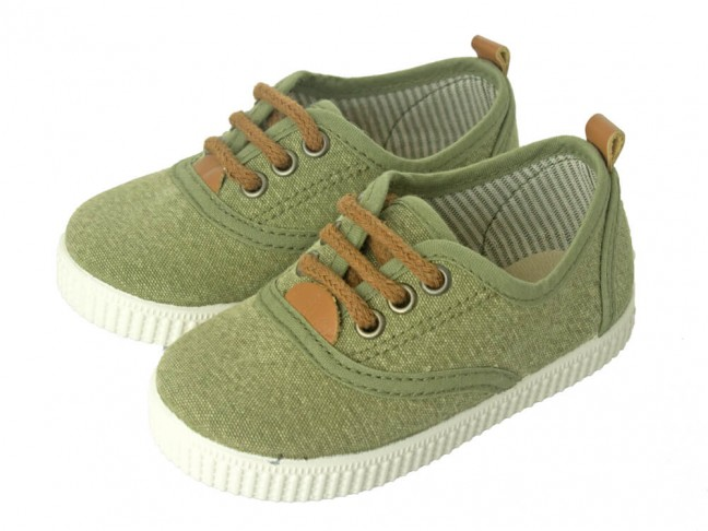 Zapatillas Urbanas niña niño verde kaki