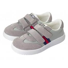 Zapatillas lona niño y niña Rayas velcro