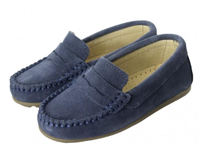 Mocasines Niño Serraje Antifaz azul jeans