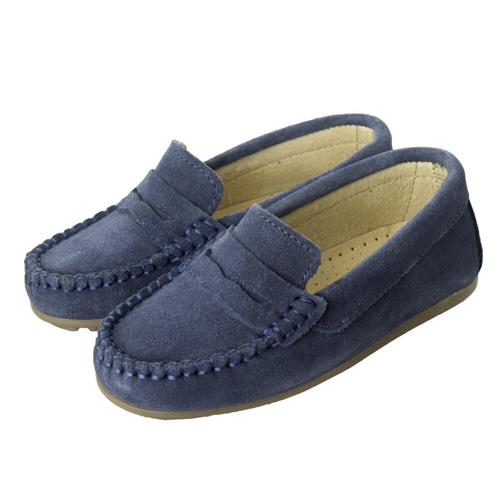 11bb22326 Mocasines Niño Serraje Antifaz azul jeans. 38 ...