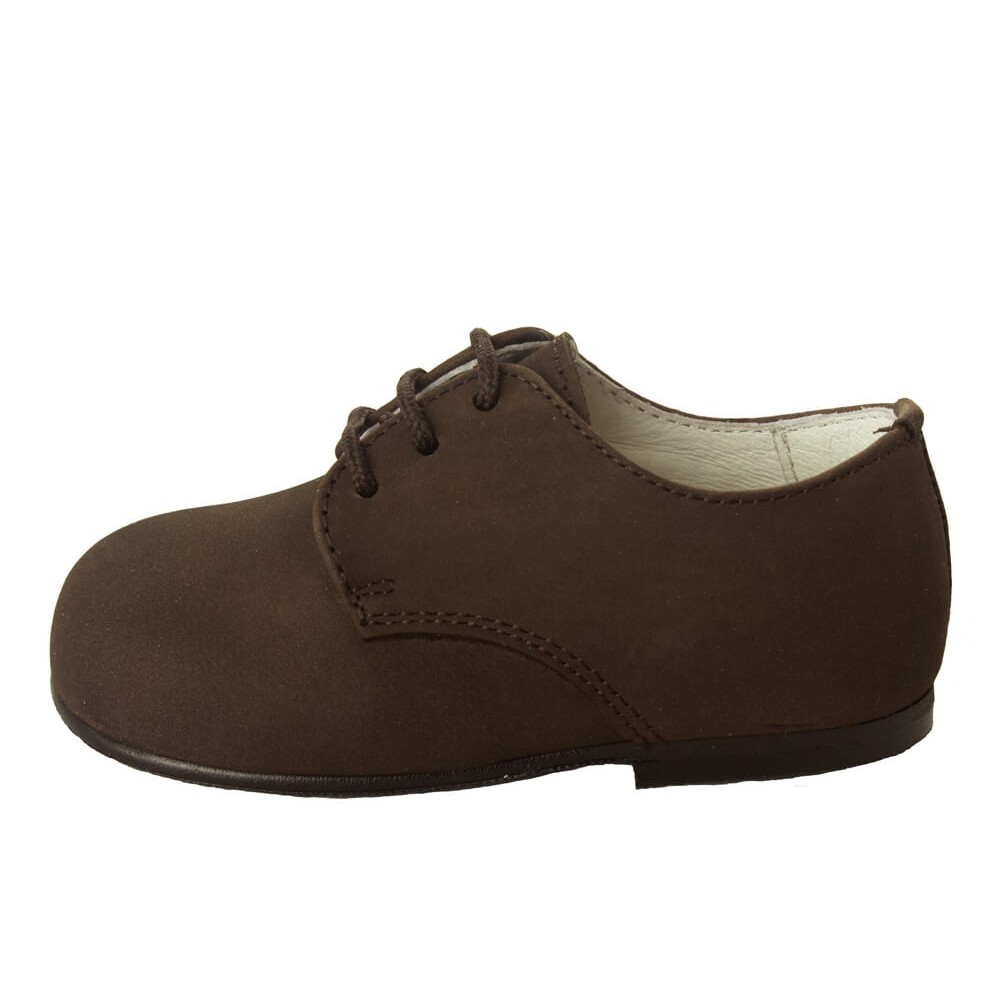 c18858314 Zapatos blucher niño nina nobuck marrón