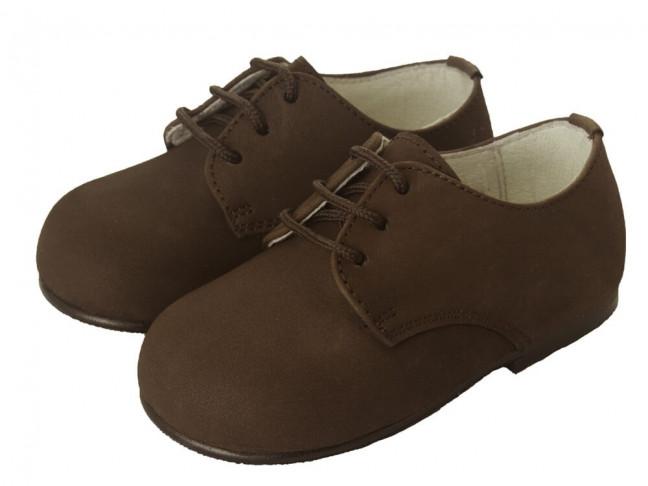 Zapatos blucher niño nina nobuck