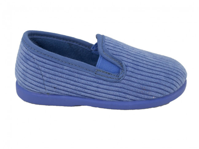 Zapatillas casa niños pana Azul