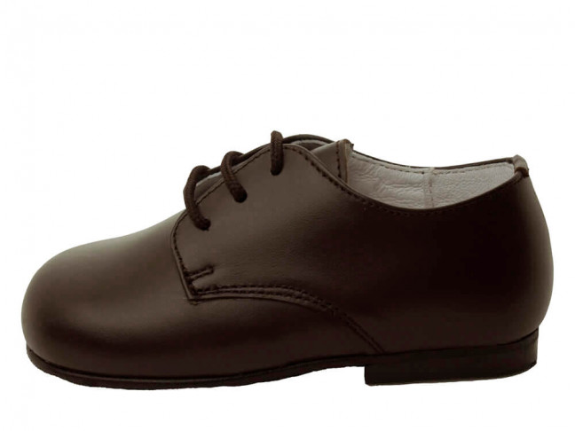 Zapatos blucher niños piel Azul Marino
