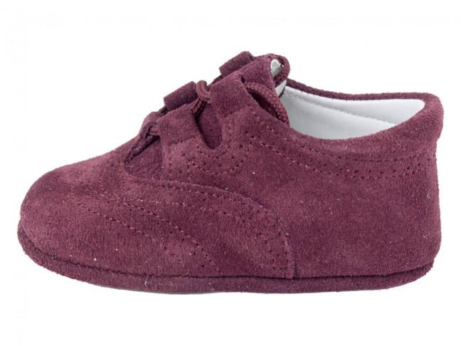 Zapatos Inglesitos bebe serraje morado