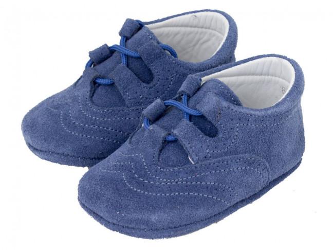 Zapatos Inglesitos bebe serraje azul jeans