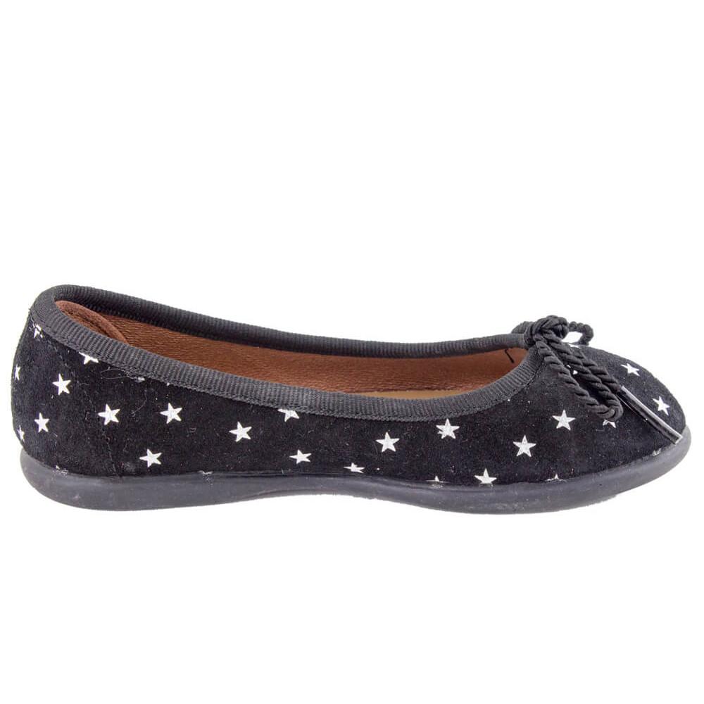 7ef3ab147c6 Bailarinas niña serraje estrellas negro