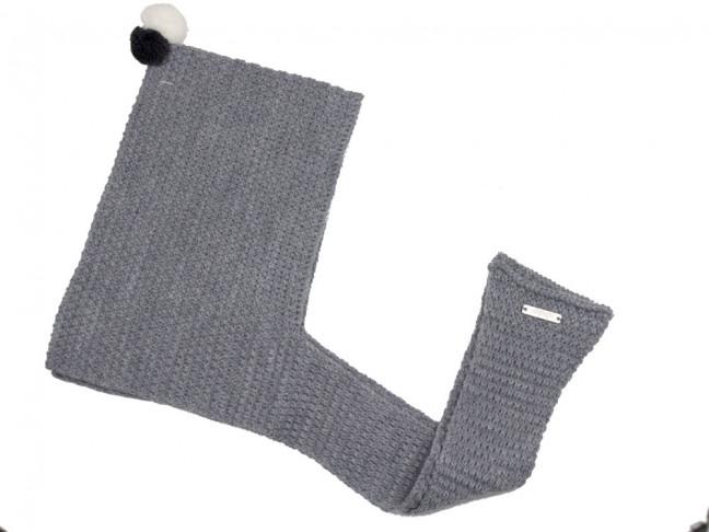 Capucha bufanda Niños con miniborlas gris claro