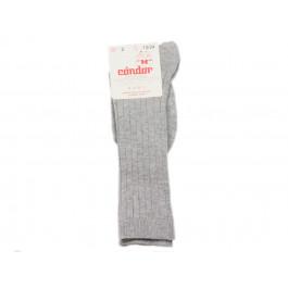 Calcetines niños Condor canalé Altos gris aluminio