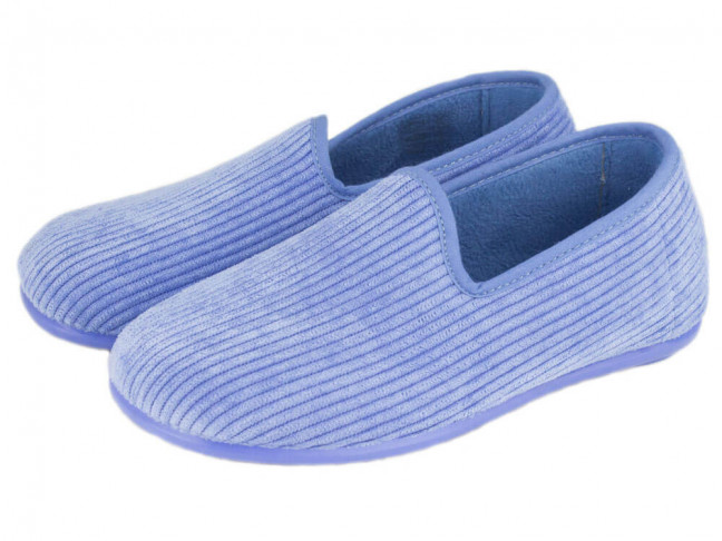 Zapatillas de estar por casa pana niño azul