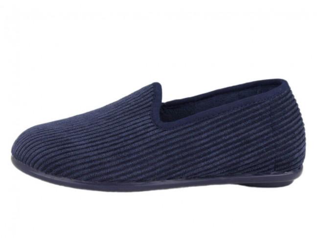 Zapatillas de estar por casa pana niño azul marino