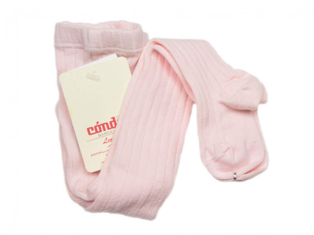 Leotardos Niños Cóndor Canalé rosa claro