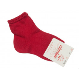 Calcetines Niños Condor Puño labrado rojo