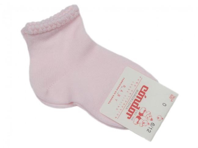 Calcetines Niños Condor Puño labrado rosa