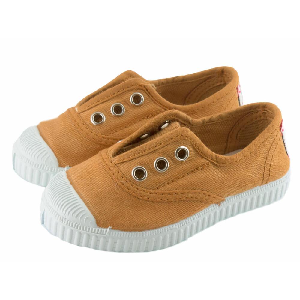 ac31612fe36 Zapatillas bambas niño niña puntera lavadas mostaza