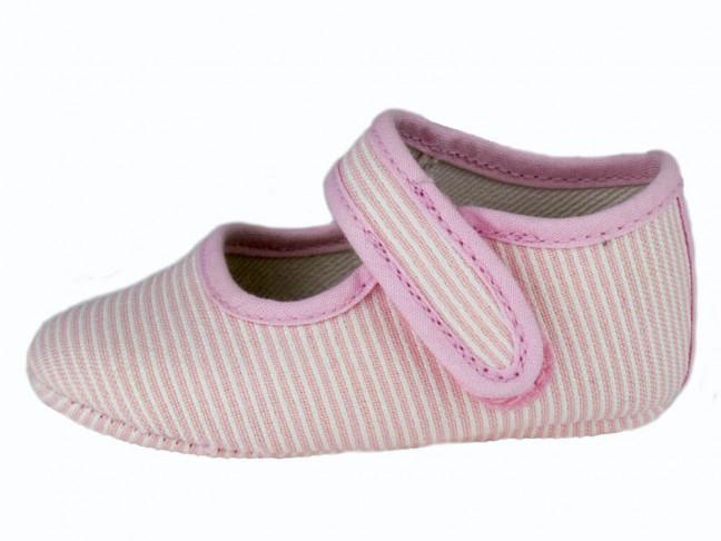 Merceditas bebe tela rayas rosa