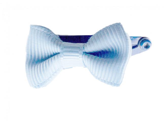 Ranita Niñas con lazo de 3 cm azul bebe