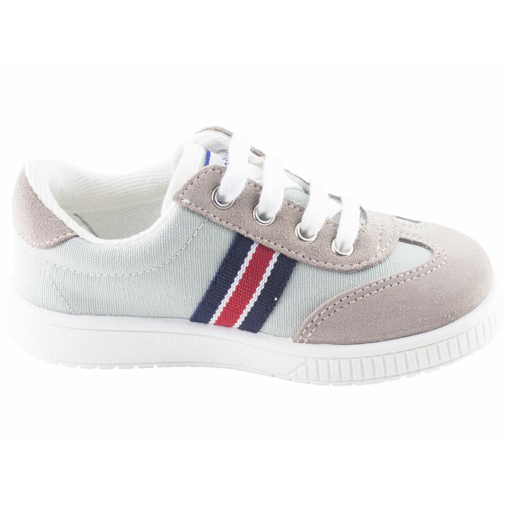 d56e97c65 Zapatillas lona niño niña Rayas gris claro