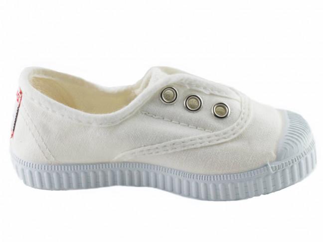 Zapatillas bambas niño niña puntera lavadas blanco