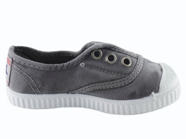 Zapatillas bambas niño niña puntera lavadas gris