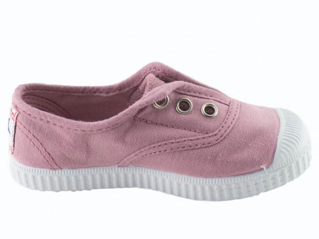 Zapatillas bambas niño niña puntera lavadas rosa viejo