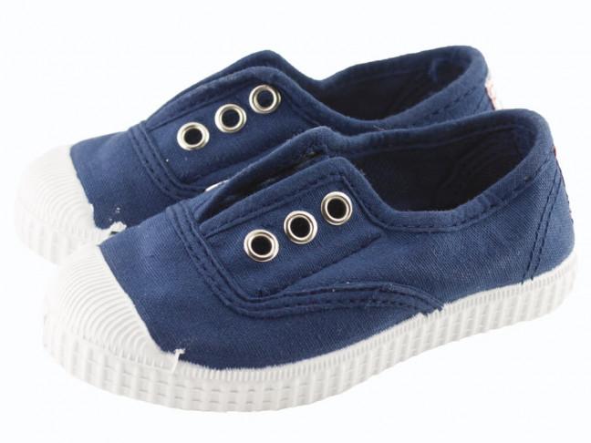Zapatillas bambas niño niña puntera lavadas azul marino