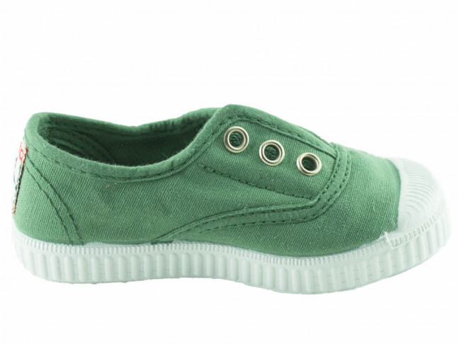 Zapatillas bambas niño niña puntera lavadas verde viejo