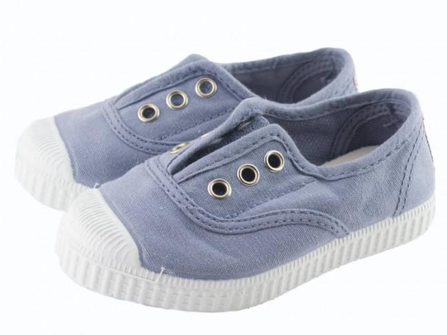 Zapatillas bambas niño niña puntera lavadas azul viejo