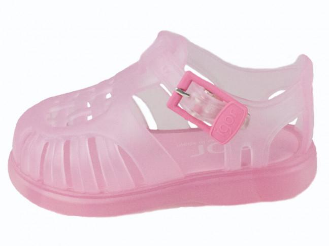 Cangrejeras niña niño rosa claro