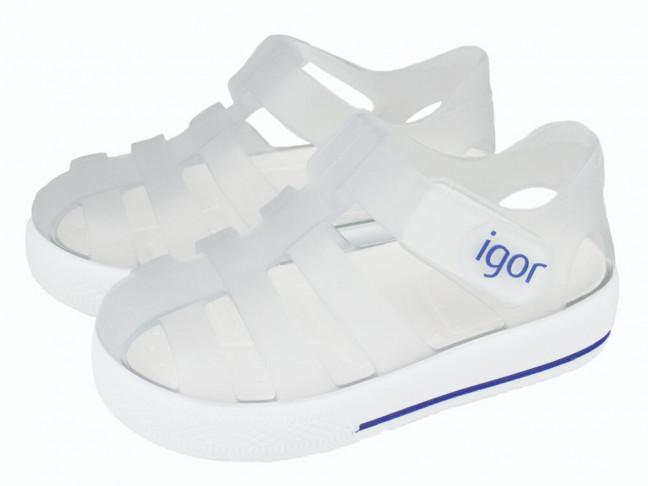 Cangrejeras niño niña Velcro blanco