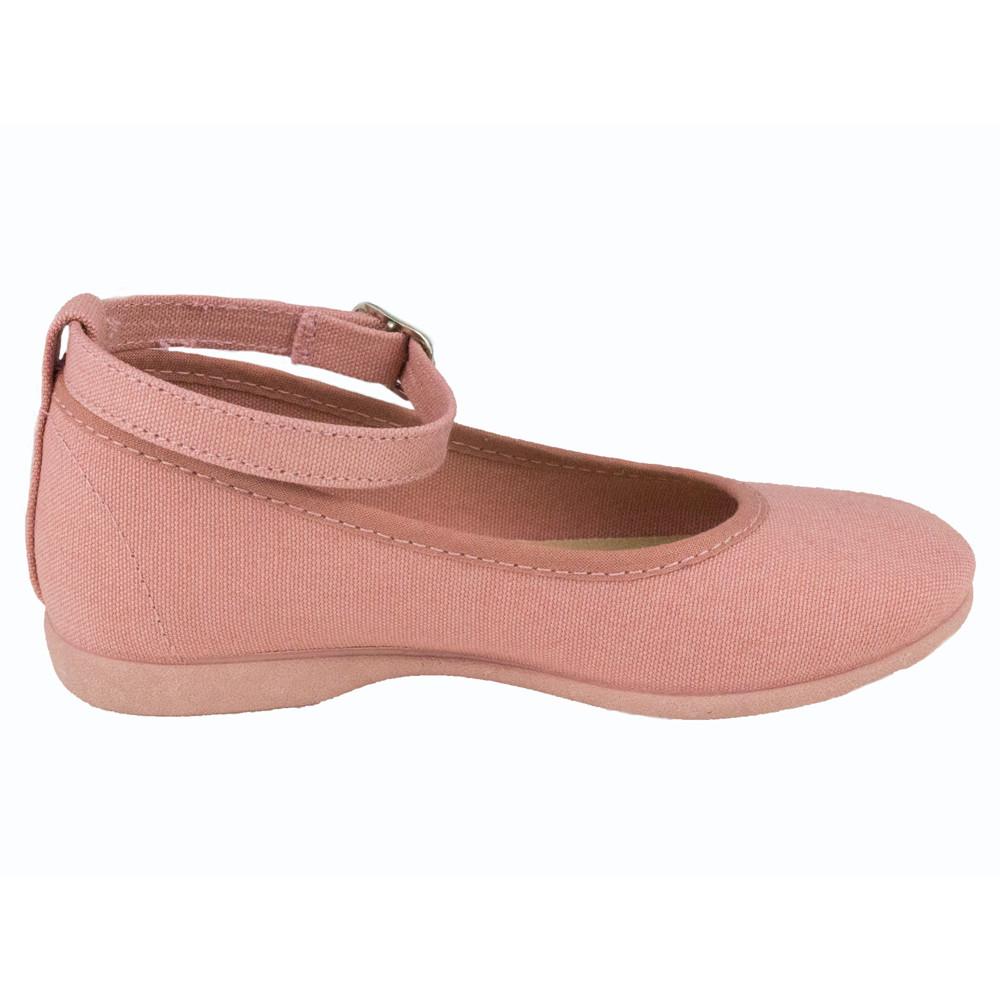 27d8bacf4 Bailarinas niña pulsera al tobillo lona Rosa Antique