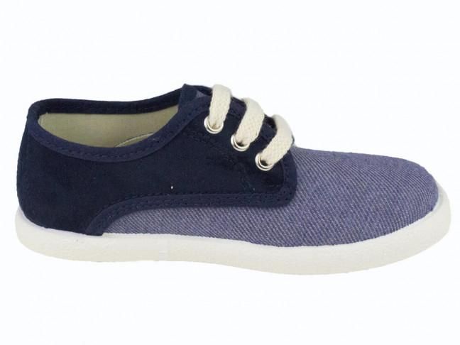 Zapatillas Combinadas niño niña azul jeans