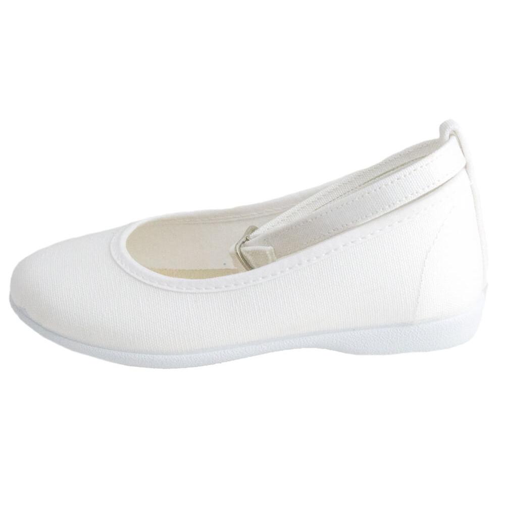 02ed6f068f0 Bailarinas niña pulsera al tobillo lona blanco