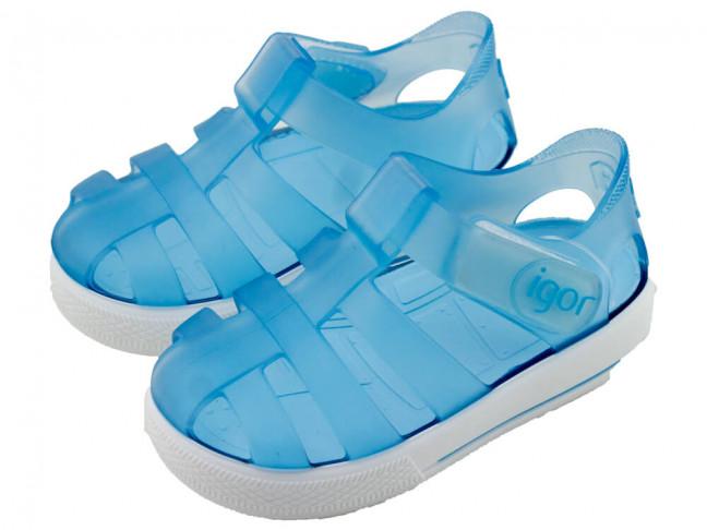 Cangrejeras niño niña Velcro azul bebe