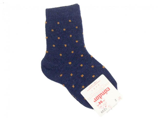 Calcetines niños Condor cortos mini cuadrado azul marino
