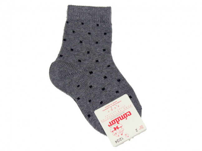 Calcetines niños Condor cortos mini cuadrado gris
