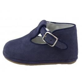 Zapatos pepitos bebé serraje Azul